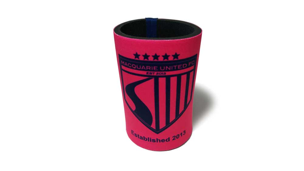 MUFC Stubbie Holder – Pink – $10